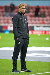 LONDON, ENGLAND - Saturday, January 2, 2016: Liverpool's manager Jürgen Klopp before the Premier League match against West Ham United at Upton Park. (Pic by David Rawcliffe/Propaganda)