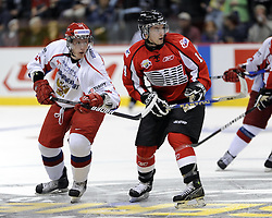 Adam Henrique of the Windsor Spitfires in Game 4 of the SUBWAY Super Series in Windsor, ON on November 23. Photo by Aaron Bell/OHL Images.