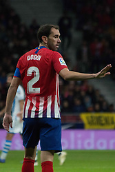 October 27, 2018 - Madrid, Madrid, Spain - Godin..during the match between Atletico de Madrid vs Real Sociedad. Atletico de Madrid won by 2 to 0 over Real Sociedad whit goals of Godin and Filipe Luis. (Credit Image: © Jorge Gonzalez/Pacific Press via ZUMA Wire)