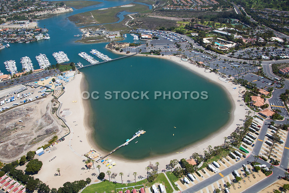 Aerial Stock Photo of Newport Dunes RV Resort in Newport Beach California