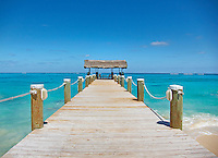 a long docking pier in Nassau, the bahamas.