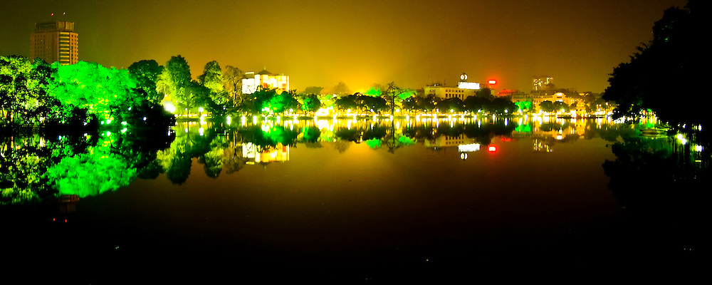 Hanoi at night.