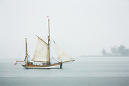 A tall ship about to pass Browns Point - Commencement Bay, WA