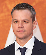 The European premiere of 'The Martian' at Odeon Leicester Square in London