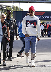 May 10, 2019, Barcelona, Spain: LEWIS HAMILTON #44 (GBR, Mercedes AMG Petronas Motorsport) walks in the paddock area ahead of the FIA Formula One World Championship 2019, Grand Prix of Spain. (Credit Image: © Hoch Zwei via ZUMA Wire)