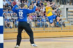 handball match between RK Krka and RK Celje Pivovarna Lasko in the Final of Slovenian Men Handball Cup 2018, on April 22, 2018 in Sportna dvorana Ljutomer , Ljutomer, Slovenia. Photo by Mario Horvat / Sportida