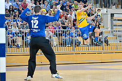 handball match between RK Krka and RK Celje Pivovarna Lasko in the Final of Slovenian Men Handball Cup 2018, on April 22, 2018 in Sportna dvorana Ljutomer , Ljutomer, Slovenia. Photo by Mario Horvat / Sportida