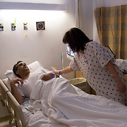 """5:30 a.m., and Anna gently touches Steve's shoulder and whispers """"I love you, we're going to be fine."""" She then boarded a gurney for her trip to the operating room."""