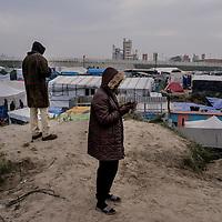 Refugees in the Jungle of Calais  in France