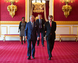 LONDON - UK - 10- SEPT - 2013: Britain's Prince Charles, The Prince of Wales, President, The Prince&rsquo;s Initiative for Mature Enterprise (PRIME), hosts a reception to celebrate PRIME entrepreneurs over the age of 50, supporters and volunteers, St James&rsquo;s Palace State Apartments, London. HRH also viewed some of the products produced by PRIME businesses.<br /> Photo by Ian Jones