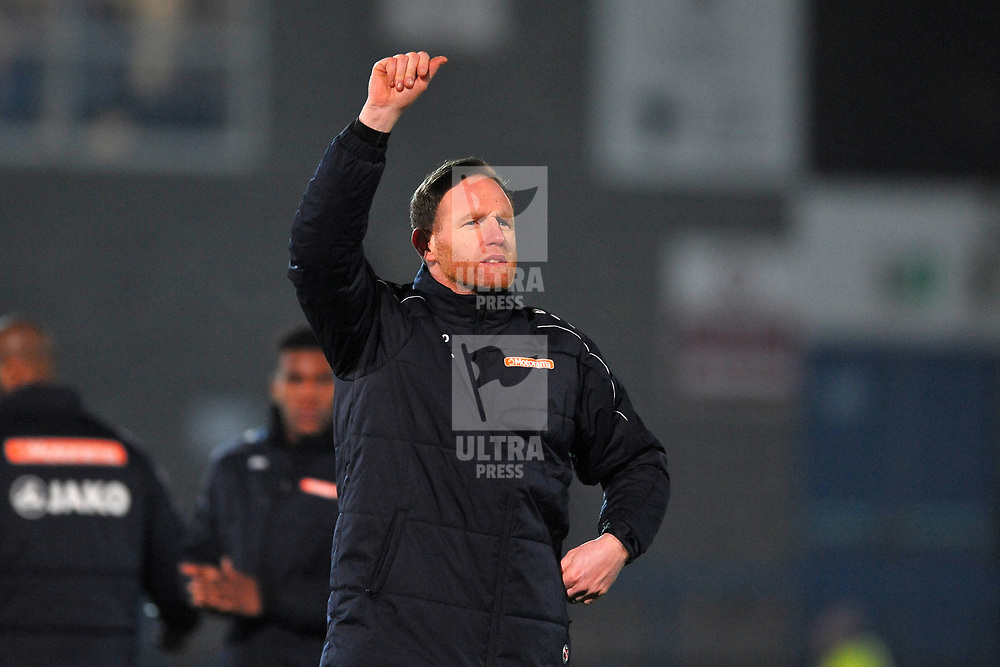 TELFORD COPYRIGHT MIKE SHERIDAN Telford boss Gavin Cowan during the Vanarama Conference North fixture between AFC Telford United and Alfreton Town at the New Bucks Head Stadium on Thursday, December 26, 2019.<br /> <br /> Picture credit: Mike Sheridan/Ultrapress<br /> <br /> MS201920-036