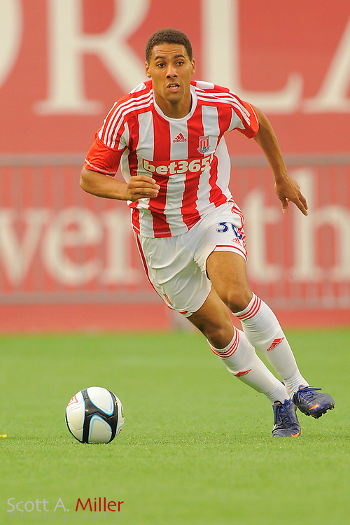 Stoke City Potters defender Ryan Shotton (30) during the Potters game against the Orlando City Lions at the Florida Citrus Bowl on July 28, 2012 in Orlando, Florida. Stoke won 1-0...© 2012 Scott A. Miller.