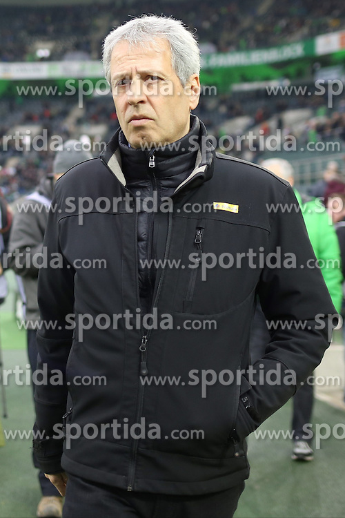 15.03.2015, Borussia Park, Moenchengladbach, GER, 1. FBL, Borussia Moenchengladbach vs Hannover 96, 25. Runde, im Bild Trainer Lucien Favre (Borussia Moenchengladbach) // 15054000 during the German Bundesliga 25th round match between Borussia Moenchengladbach and Hannover 96 at the Borussia Park in Moenchengladbach, Germany on 2015/03/15. EXPA Pictures &copy; 2015, PhotoCredit: EXPA/ Eibner-Pressefoto/ Schueler<br /> <br /> *****ATTENTION - OUT of GER*****