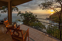 A sunset view from a room at Arenas del Mar Resort, Manuel Antonio, Costa Rica