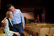 "JULY 8, 2018  LANCASTER, OHIO:<br /> <br /> Director of Theater at Ohio University Lancaster, A. Victor Jones (right), and actress and long time best friend, Jennifer Myers, sit together in the Wagner Theater during a rehearsal for the production of ""Hello, Dolly!"" at Ohio University Lancaster."
