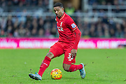 Liverpool's Midfielder Jordon Ibe in action during the Barclays Premier League match between Newcastle United and Liverpool at St. James's Park, Newcastle, England on 6 December 2015. Photo by George Ledger.