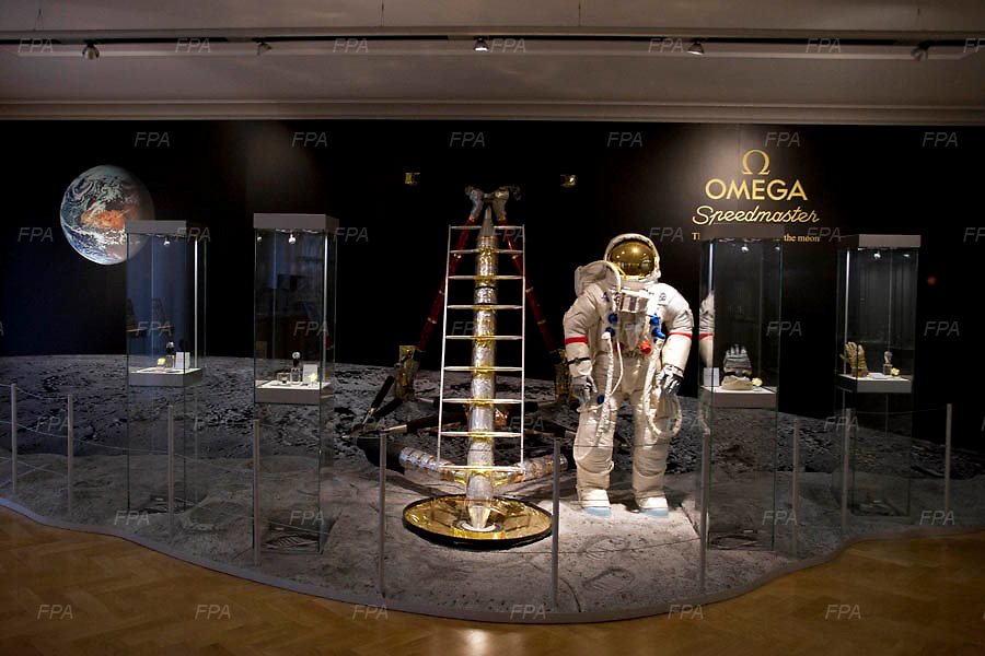 The NASA corner of the Omega Museum in Bienne, Switzerland. Image © Angelos Giotopoulos/Falcon Photo Agency