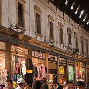 Shops line the main thoroughfare of the souq, Damascus