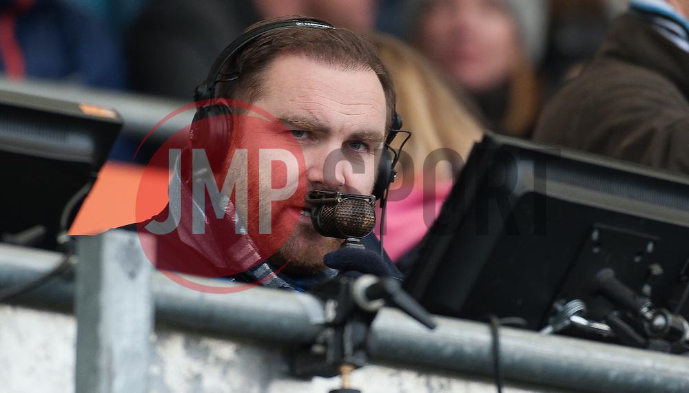 Andy Goode working for BT Sport looks on.  - Mandatory byline: Alex Davidson/JMP - 20/03/2016 - RUGBY - Sandy Park - Exeter, England - Exeter Chiefs v Northampton Saints - Aviva Premiership