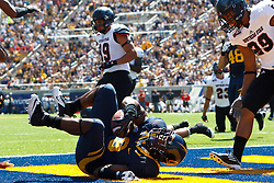 BERKELEY, CA - SEPTEMBER 08: Running back C.J. Anderson #9 of the California Golden Bears scores a touchdown against the Southern Utah Thunderbirds during the second quarter at Memorial Stadium on September 8, 2012 in Berkeley, California. The California Golden Bears defeated the Southern Utah Thunderbirds 50-31. (Photo by Jason O. Watson/Getty Images) *** Local Caption *** C.J. Anderson