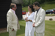 Tara Getty,  Maria Anagnostellis and Guy Leymarie, Guy Leymarie and Tara Getty host The De Beers Cricket Match. The Lashings Team versus the Old English team. Wormsley. ONE TIME USE ONLY - DO NOT ARCHIVE  © Copyright Photograph by Dafydd Jones 66 Stockwell Park Rd. London SW9 0DA Tel 020 7733 0108 www.dafjones.com