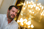 Rome sep 24th 2015, meeting on right wing rebuilding. In the picture Matteo Salvini