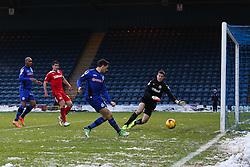 Rochdale's Ian Henderson scores Rochdale's second goal  - Photo mandatory by-line: Matt McNulty/JMP - Mobile: 07966 386802 - 17.01.2015 - SPORT - Football - Rochdale - Spotland Stadium - Rochdale v Crawley Town - Sky Bet League One