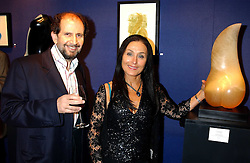 MARTYN GORDON and JACKIE SAMPSON at a private view sculptures, drawings and Maquettes by Aly Brown held at Lucy B Campbell Fine Art, 123 Kensington Church Street, London W8 on 22nd November 2005.<br />
