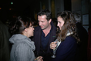HELEN MCCRORY,  JAMES PUREFOY AND JESSICA ADAMS, Tom Cairns directs Almeida Fundraising Benefit sponsored by Coutts and Co. -A Chain Play by Samuel Adamson, Moira Buffini, David Hare, Charlotte Jones, Frank McGuinness and Roy Williams. Almeida theatre. London. 23 March 2007.  -DO NOT ARCHIVE-© Copyright Photograph by Dafydd Jones. 248 Clapham Rd. London SW9 0PZ. Tel 0207 820 0771. www.dafjones.com.