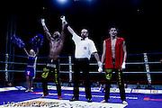 categorie 74,5 KG CHAMPIONNAT D EUROPE K-1 RULES.JOSE DUMBA BARRADAS vainqueur aux poing contre DANIEL GOMEZ JORDAN