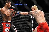 "ATLANTA, GEORGIA, SEPTEMBER 6, 2008: Roan Carneiro (left) slips a punch from Ryo Chonan during ""UFC 88: Breakthrough"" inside Philips Arena in Atlanta, Georgia on September 6, 2008"