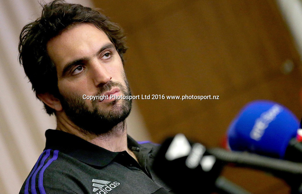 New Zealand Rugby Press Conference, Castleknock Hotel, Dublin 14/11/2016<br /> Sam Whitelock<br /> Mandatory Credit &copy;INPHO/Donall Farmer
