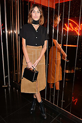 ALEXA CHUNG at Rock The Empire - a party hosted by Alexa Chung to celebrate the launch of W Beijing - Chang'an held at the Wyld Bar, W London, Leicester Square, London on 19th February 2015.