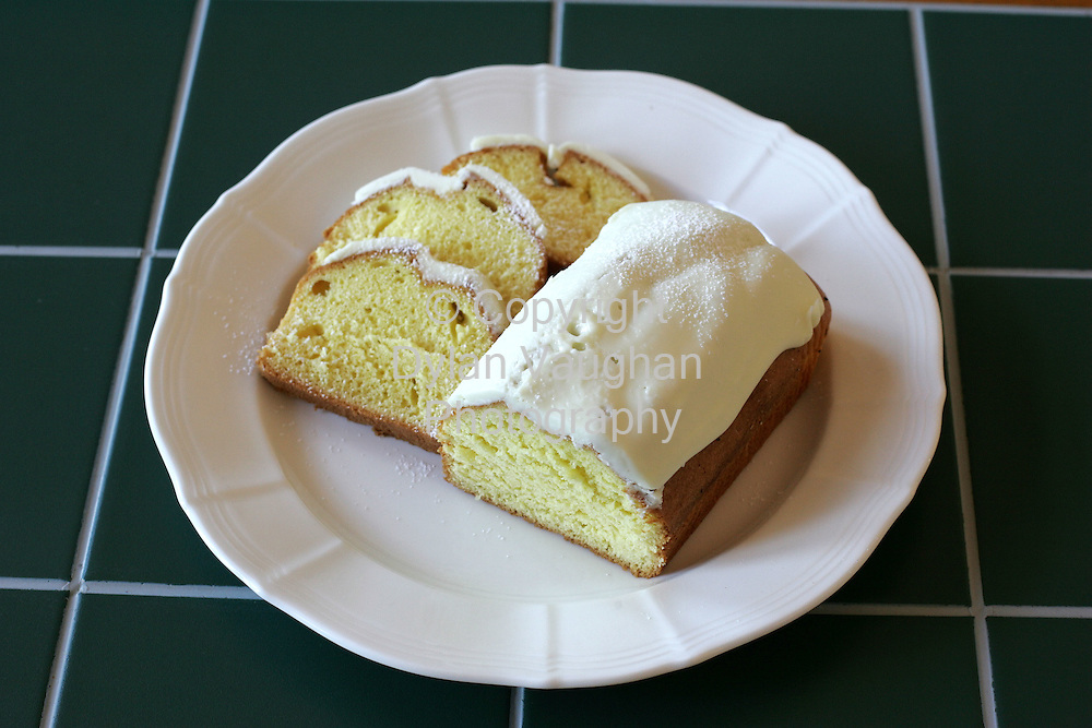 25/9/2004.Eugene McSweeny Food week 76 for Weekender.desert lemon Mediera Cake.Picture Dylan Vaughan