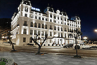 Gran Hotel, El Sardinero, Santander, Spain, May, 2015, 201505070866<br /> <br /> Copyright Image from Victor Patterson, 54 Dorchester Park, Belfast, UK, BT9 6RJ<br /> <br /> t: +44 28 9066 1296<br /> m: +44 7802 353836<br /> vm +44 20 8816 7153<br /> <br /> e1: victorpatterson@me.com<br /> e2: victorpatterson@gmail.com<br /> <br /> www.victorpatterson.com<br /> <br /> IMPORTANT: Please see my Terms and Conditions of Use at www.victorpatterson.com