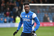 Bradford City Defender, Devante Cole warms up during the The FA Cup third round match between Bury and Bradford City at Gigg Lane, Bury, England on 9 January 2016. Photo by Mark Pollitt.
