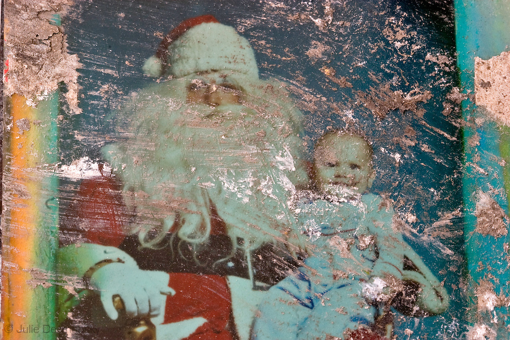 May 22 2007, Destroyed holiday photo found in a home destroyed by Hurricane Katrina in Arabi, LA