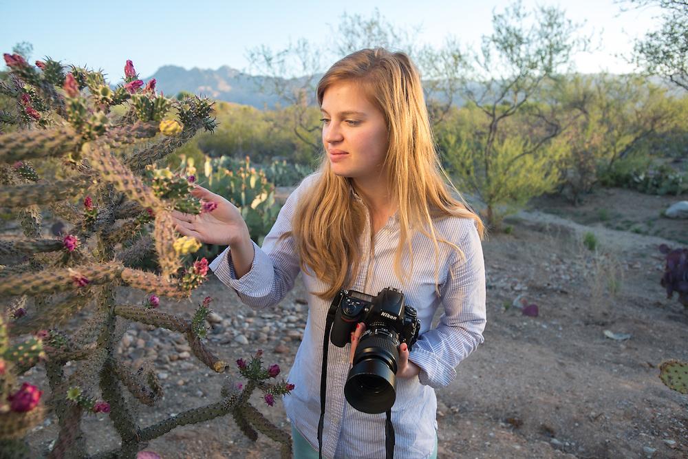 Photographer In Desert, Tucson AZ