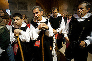 Sardegna, Italy. Sant'Anticoco, Sulcis, provincia di Carbonia-Iglesias. Festa di Sant'Antioco, patrono della Sardegna. Durante la messa.