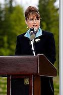Alaska Gov. Sarah Palin at the 2007 Memorial Day ceremony at Ft. Richardson Alaska