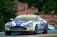 Jordan Albert (GBR) / Jack Bartholomew (GBR)  #407 Beechdean AMR  Aston Martin V8 Vantage GT4  Aston Martin 4.7L V8 British GT Championship at Oulton Park, Little Budworth, Cheshire, United Kingdom. May 28 2016. World Copyright Peter Taylor/PSP.
