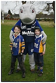Sale Sharks Premier rugby camp at Sandbach. 18-04-2006. Pics with Mascot