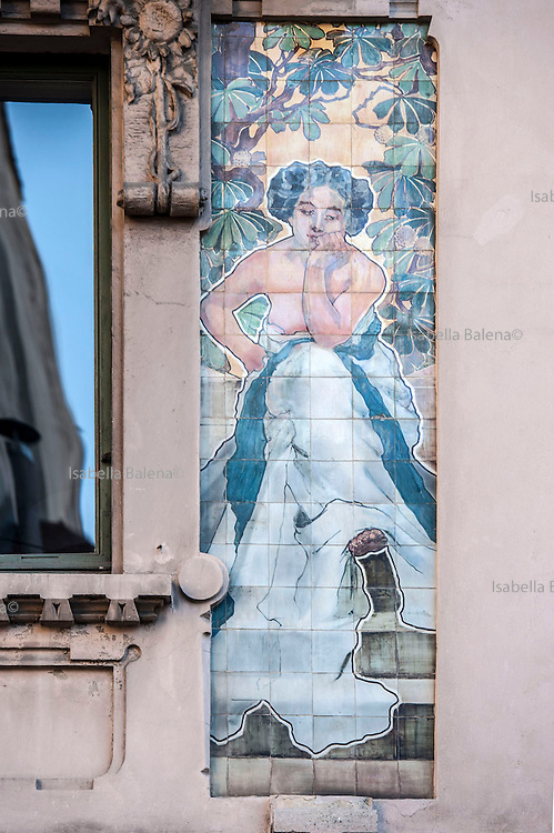 Milano, Lombardia, Italia. Stile liberty. Liberty style. Casa Galimberti via Malpighi 3-via Sirtori