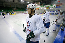 Marcel Rodman at first practice of Slovenian National Ice hockey team before World championship of Division I - group B in Ljubljana, on April 5, 2010, in Hala Tivoli, Ljubljana, Slovenia.  (Photo by Vid Ponikvar / Sportida)