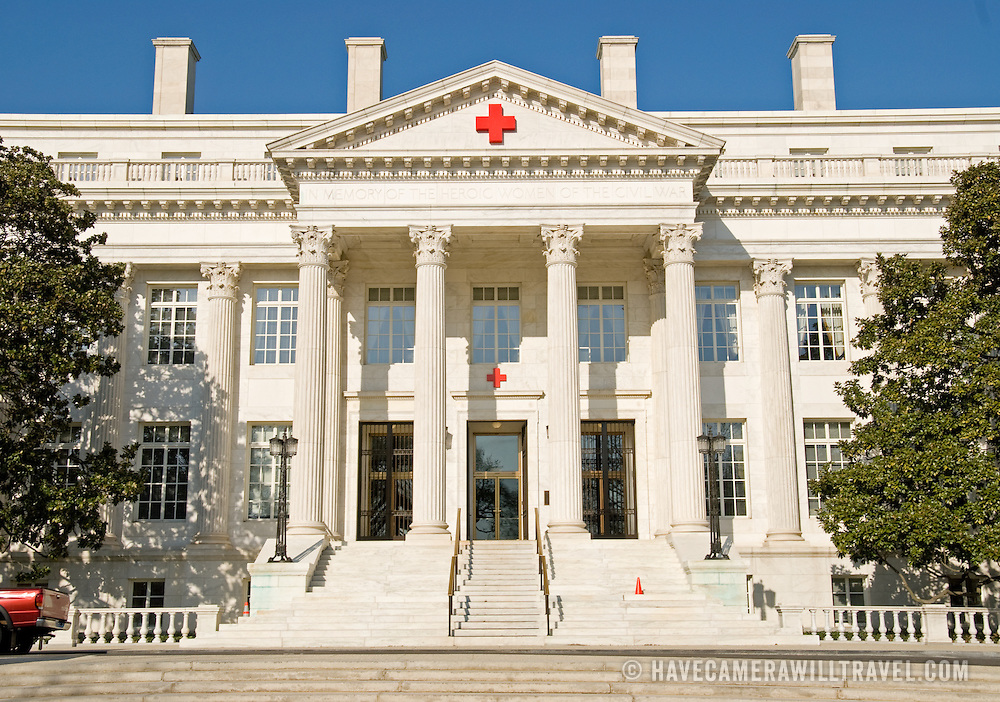 Historic headquarters of the American National Red Cross in Washington DC, near the White House