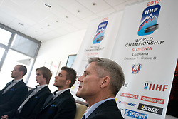 Head coach John Harrington at press conference of Slovenian National team before Ice-Hockey World Championships Division I Ljubljana 2010, on April 16, 2010, in Hall Tivoli, Ljubljana, Slovenia.  (Photo by Vid Ponikvar / Sportida)