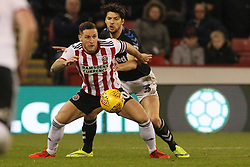 February 13, 2019 - Sheffield, South Yorkshire, United Kingdom - SHEFFIELD, UK 13TH FEBRUARY Billy Sharp of Sheffield United in action with George Friend of Middlesbrough   during the Sky Bet Championship match between Sheffield United and Middlesbrough at Bramall Lane, Sheffield on Wednesday 13th February 2019. (Credit: Mark Fletcher | MI News) (Credit Image: © Mi News/NurPhoto via ZUMA Press)