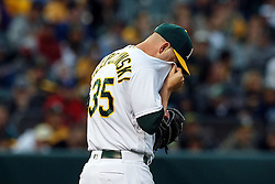 OAKLAND, CA - JUNE 14:  Marc Rzepczynski #35 of the Oakland Athletics reacts after walking in a run against the Texas Rangers during the third inning at the Oakland Coliseum on June 14, 2016 in Oakland, California. (Photo by Jason O. Watson/Getty Images) *** Local Caption *** Marc Rzepczynski