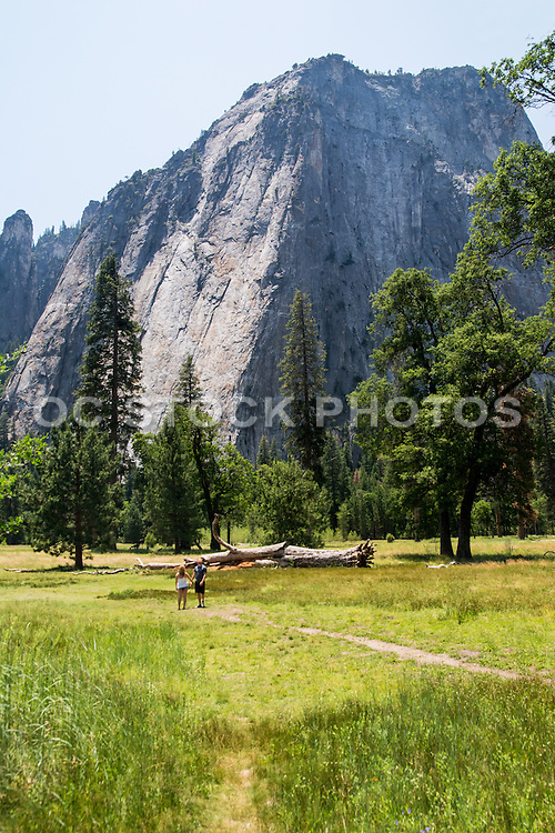 Hikers in the Meadow at Yosemite National Park