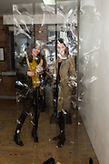 CRISTINA JUAN; ( yellow pullover) CAROL RYAN, Alan Rankle and  Suse Stoisser PV.  Art Bermondsey Project Space. London. 12 April 2016